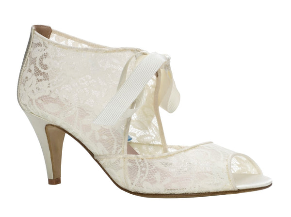Harriet Wilde Lace Wedding Shoes Sydney - Chantilly Low - Lace Booties - Wedding Shoes Sydney