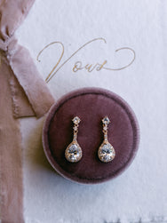 Emily - Tear Drop Bridal Earrings