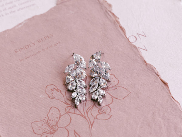 Eva - Leaf Drop Earrings