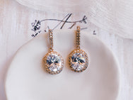 Genevieve - Oval Bridal Drop Earrings