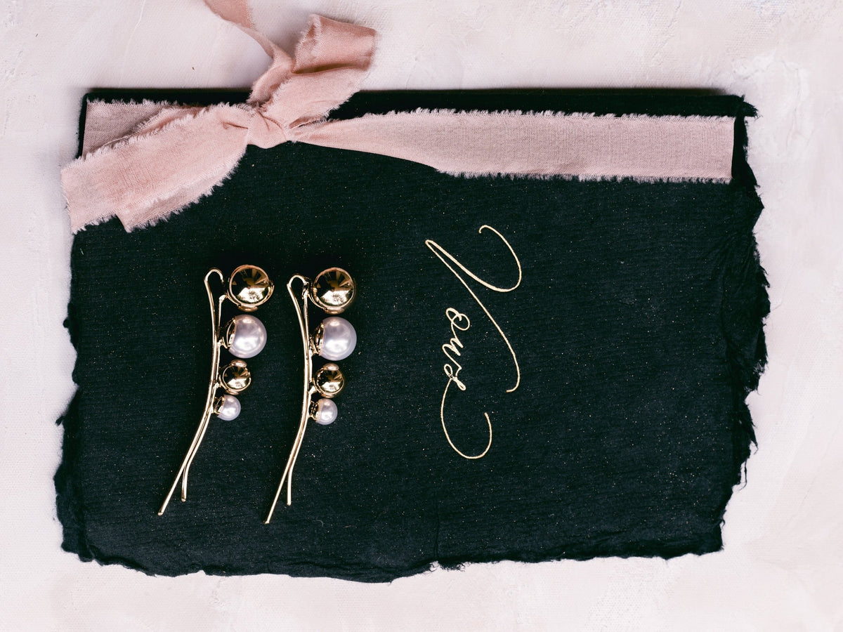 Gold & Pearl Pins