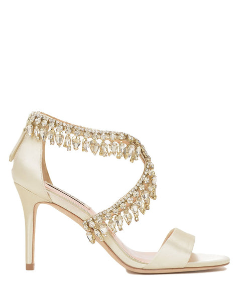 Badgley Mischka Designer Wedding Shoes - Grammy - Ivory