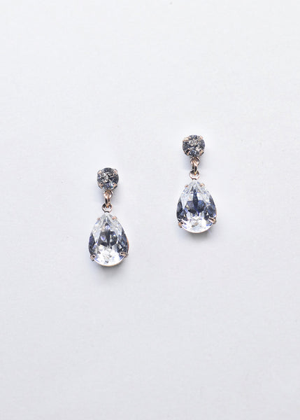 Hannah -Swarovski Pear Drop (Various Colours)