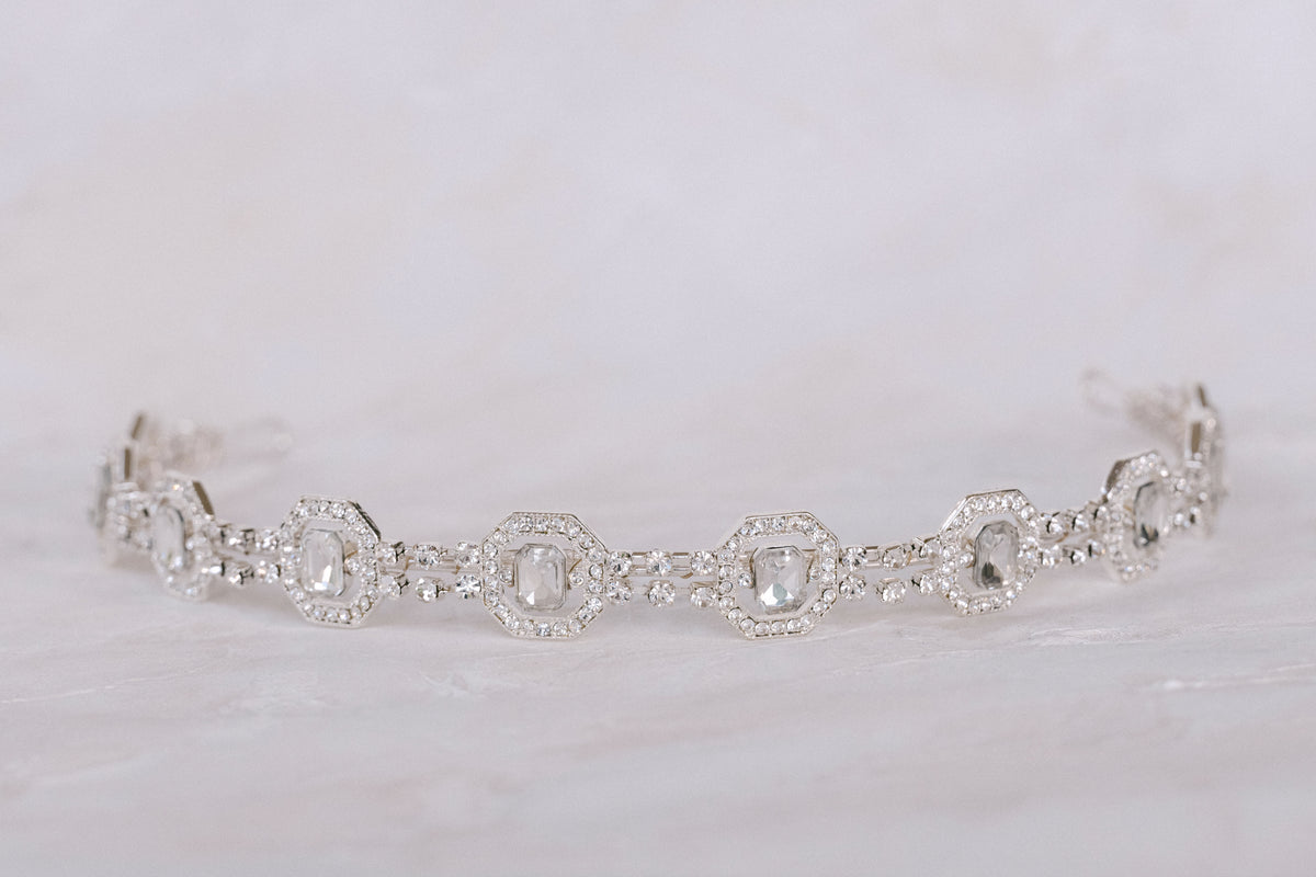 Kristen - Geometric Crystal Headband