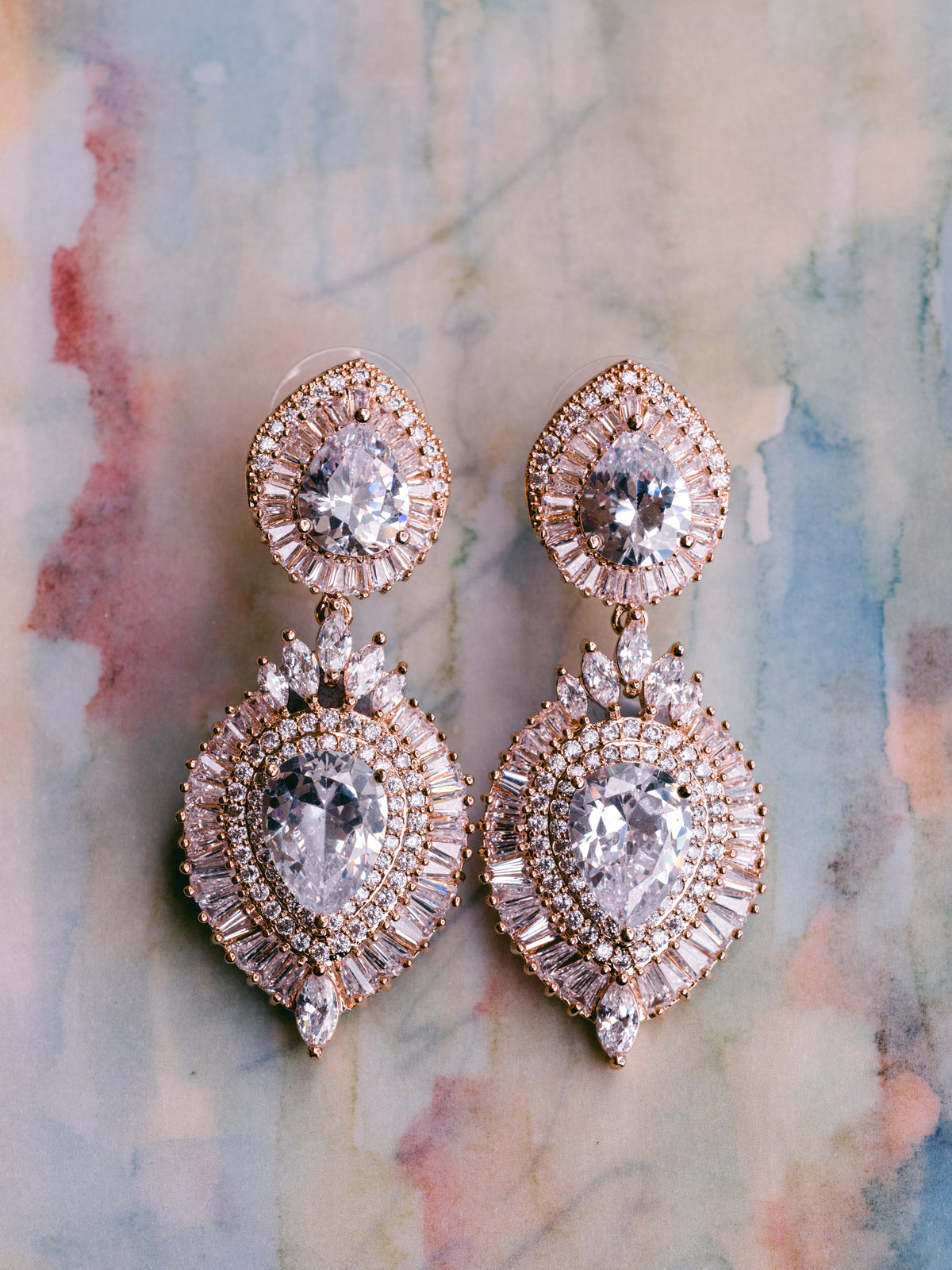 Layla - Statement Cubic Zirconia Earrings