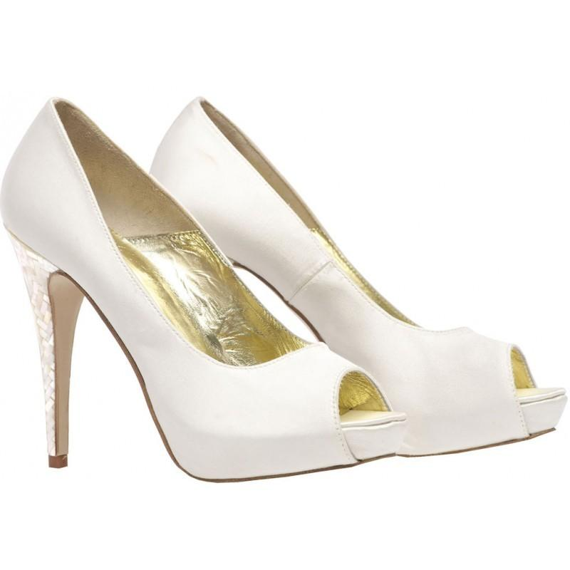Lisa - Platfom Peep with Mother of Pearl Heel (LAST PAIR 39)