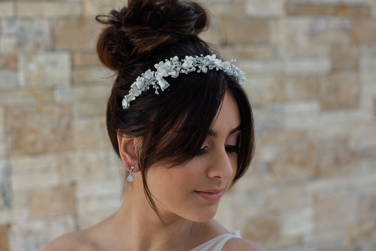 Milicent - Couture Floral & Pearl Headband