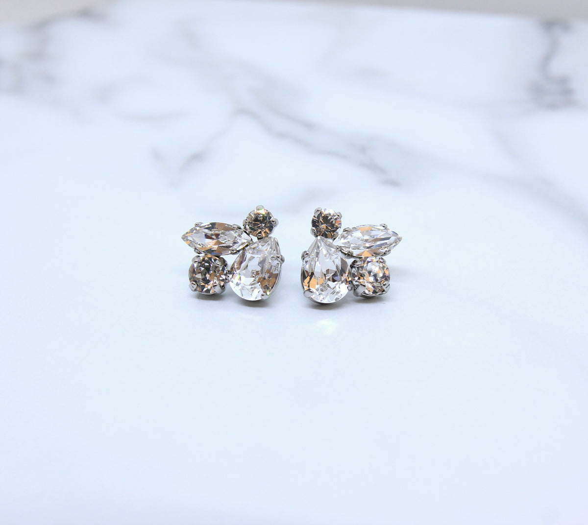 Morgan - Swarovski Cluster Earrings