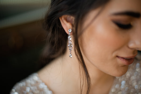 Nina - Swarovski Long Bridal Drops
