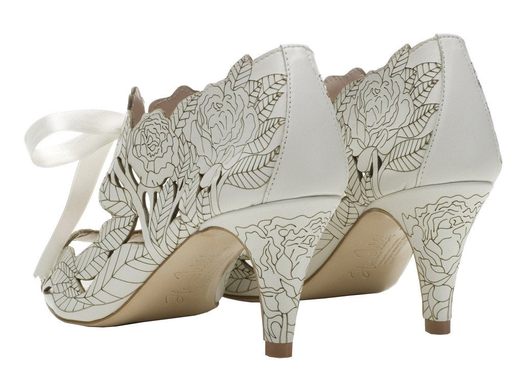 Harriet Wilde Low Bridal Shoes Sydney- Peony - Low - Ivory