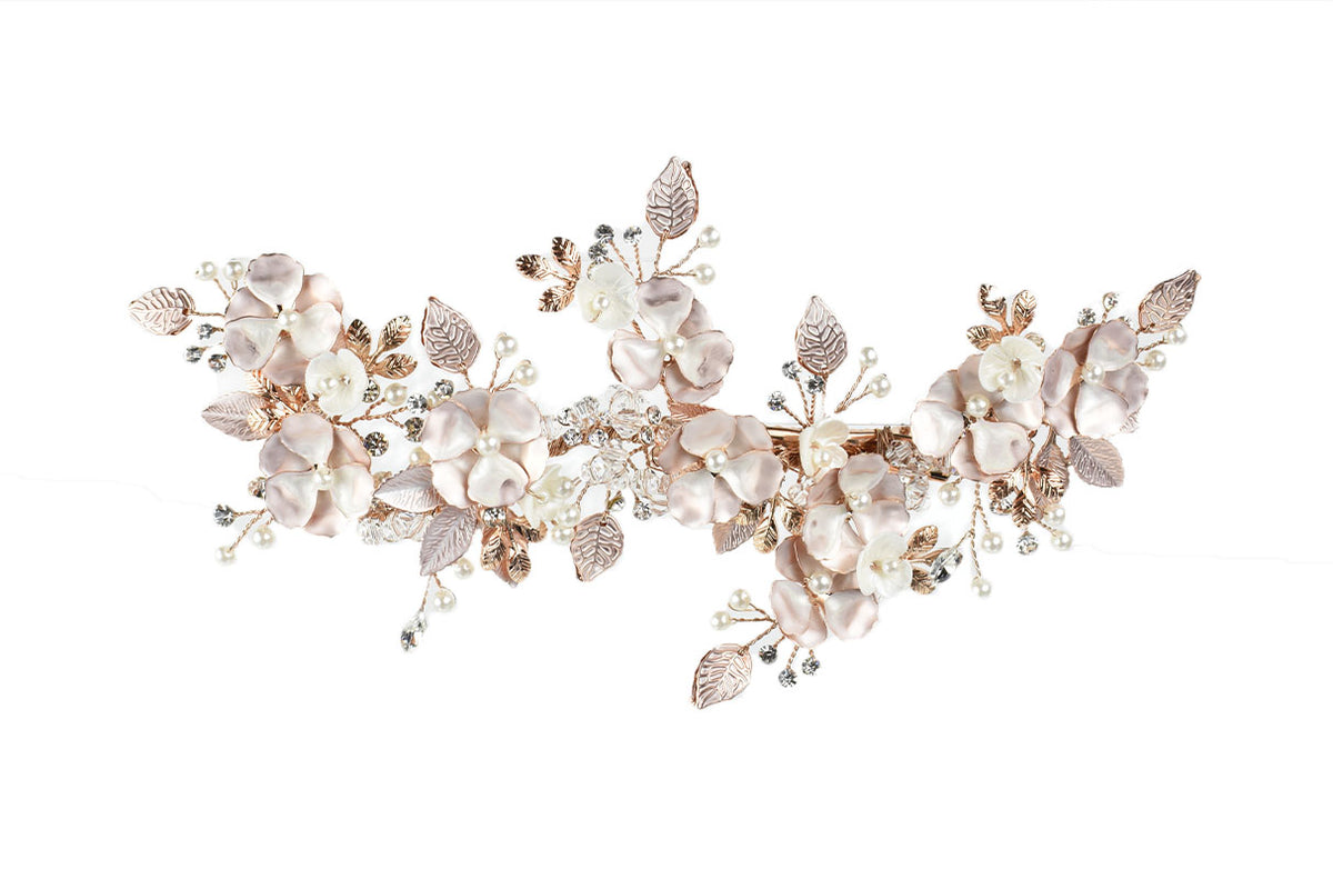 Poppy - Large Floral Hair Clip (Silver, Gold & Rose Gold)