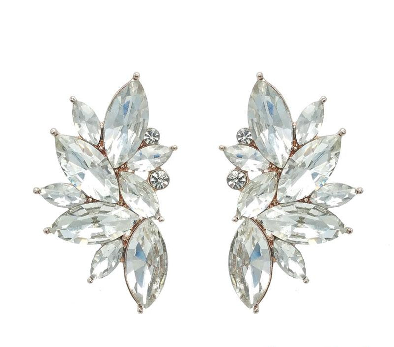 Milly - Oversized Crystal Statement Earrings