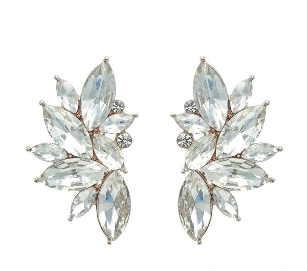 Milly - Oversized Statement Earrings (Rhodium/Rose Gold)