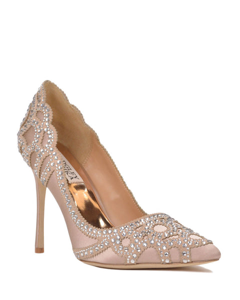 Nude Wedding Shoes -Badgley Mischka - Rouge - Latte
