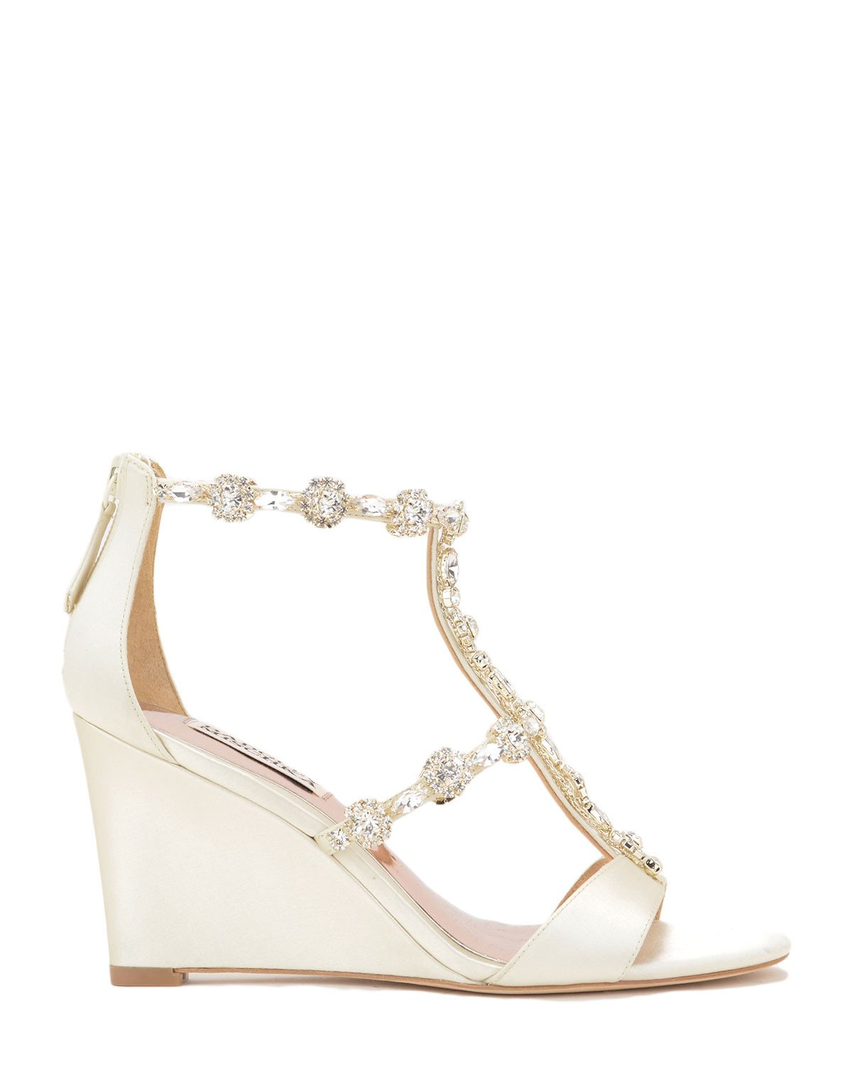 Badgley Mischka Designer Wedding Shoes -  Tabby - Ivory