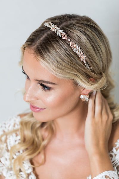 Delma - Crystal Headband (Rose Gold/Vintage Gold)