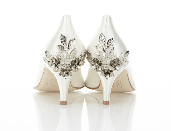 Harriet Wilde - Tilda Silver Rose - Wedding Shoes Sydney