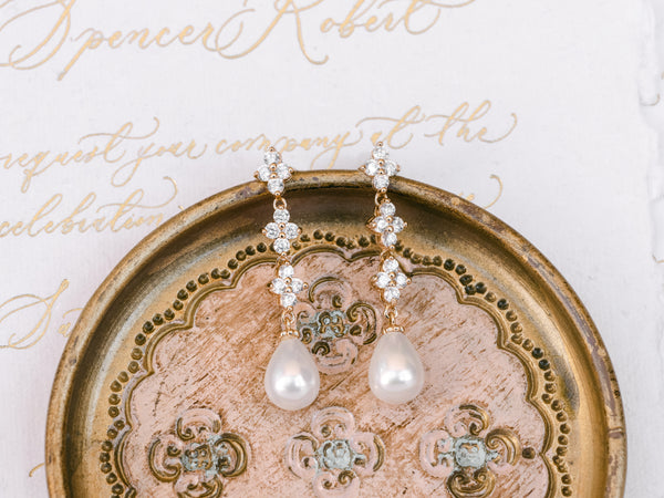 Vera - Statement Pearl Drop Bridal Earrings