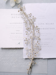 Willow - Wide Crystal Hair Vine
