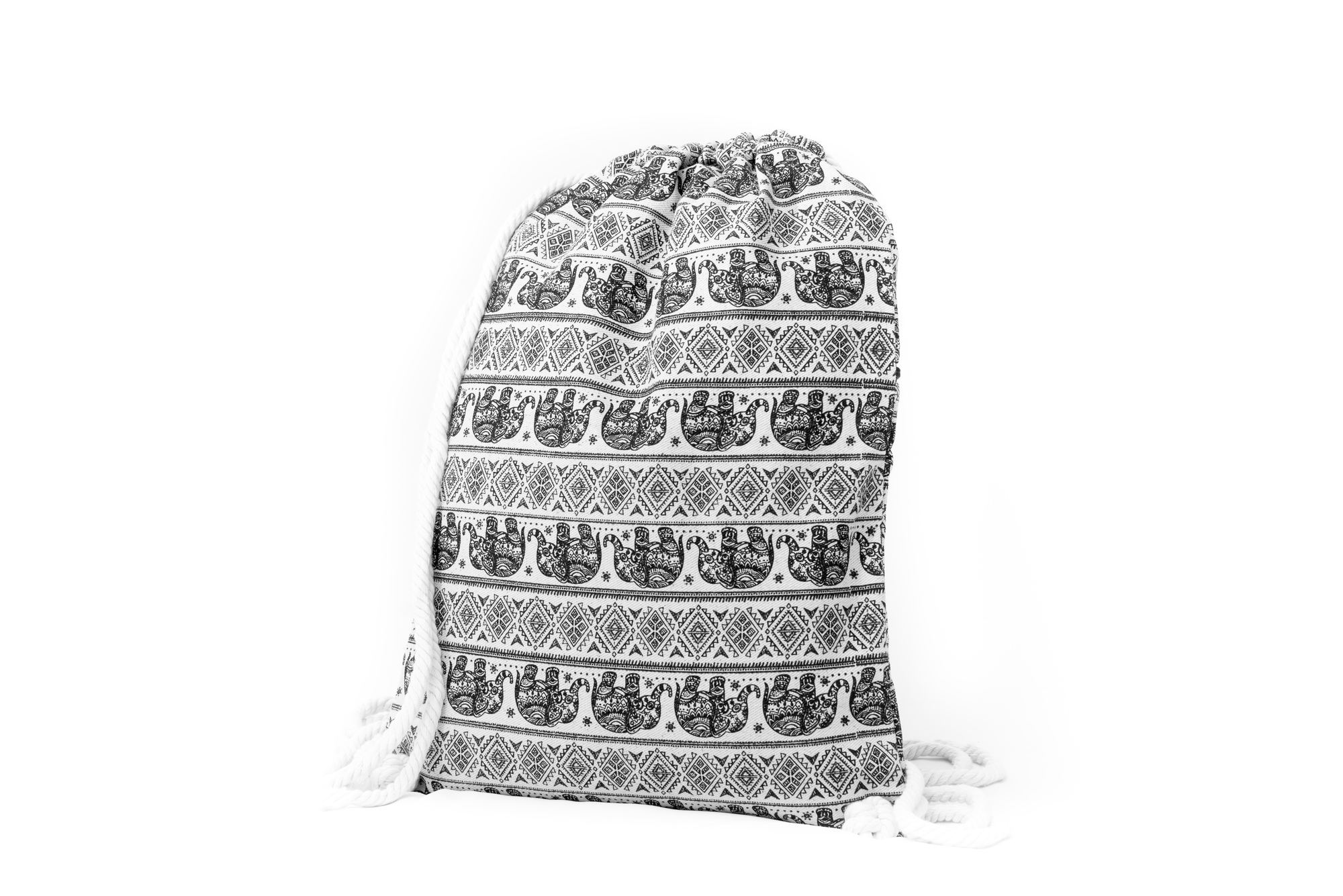 Elephants - Canvas Drawstring Backpack
