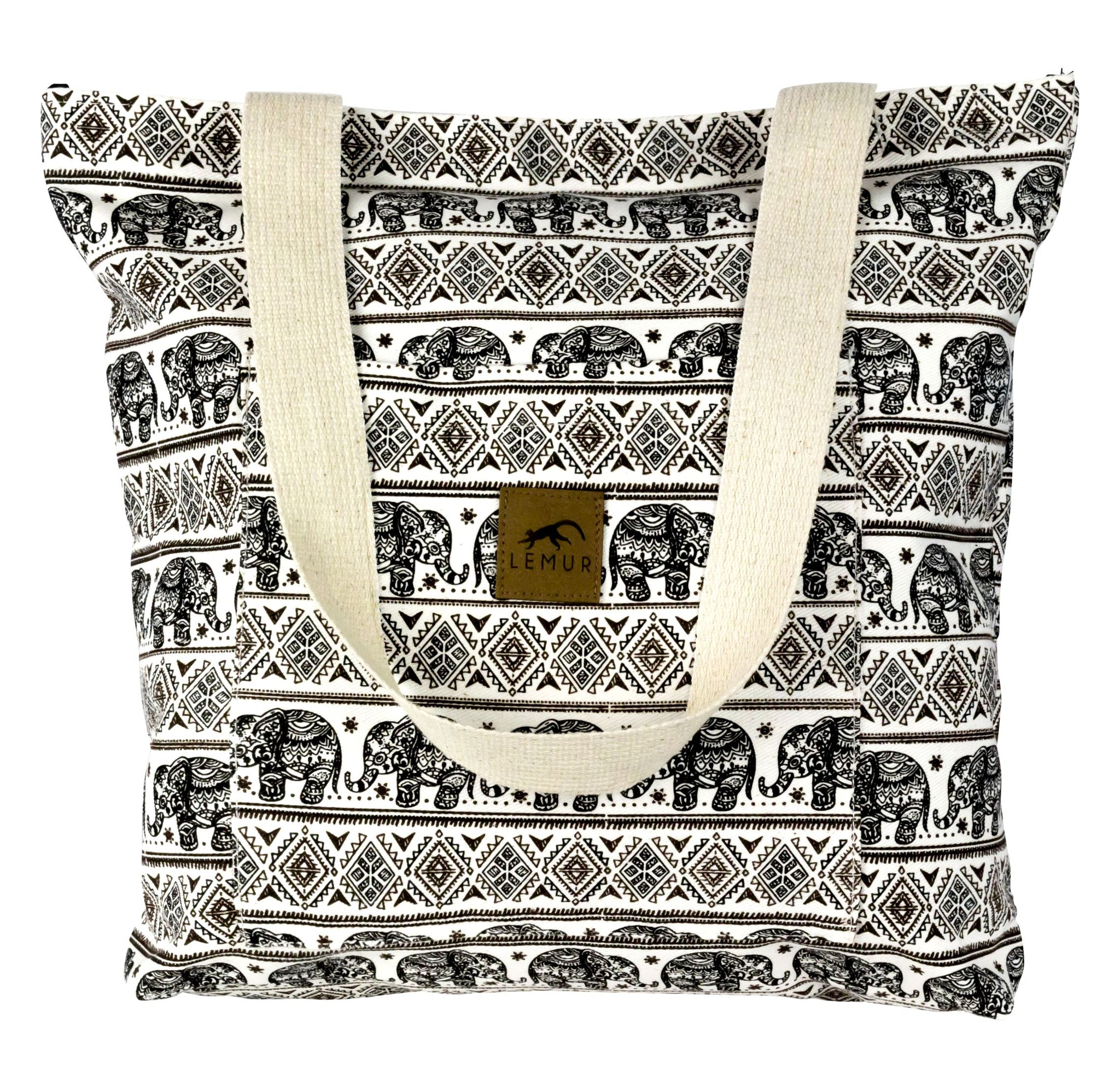 Elephants Shopping Tote Bag