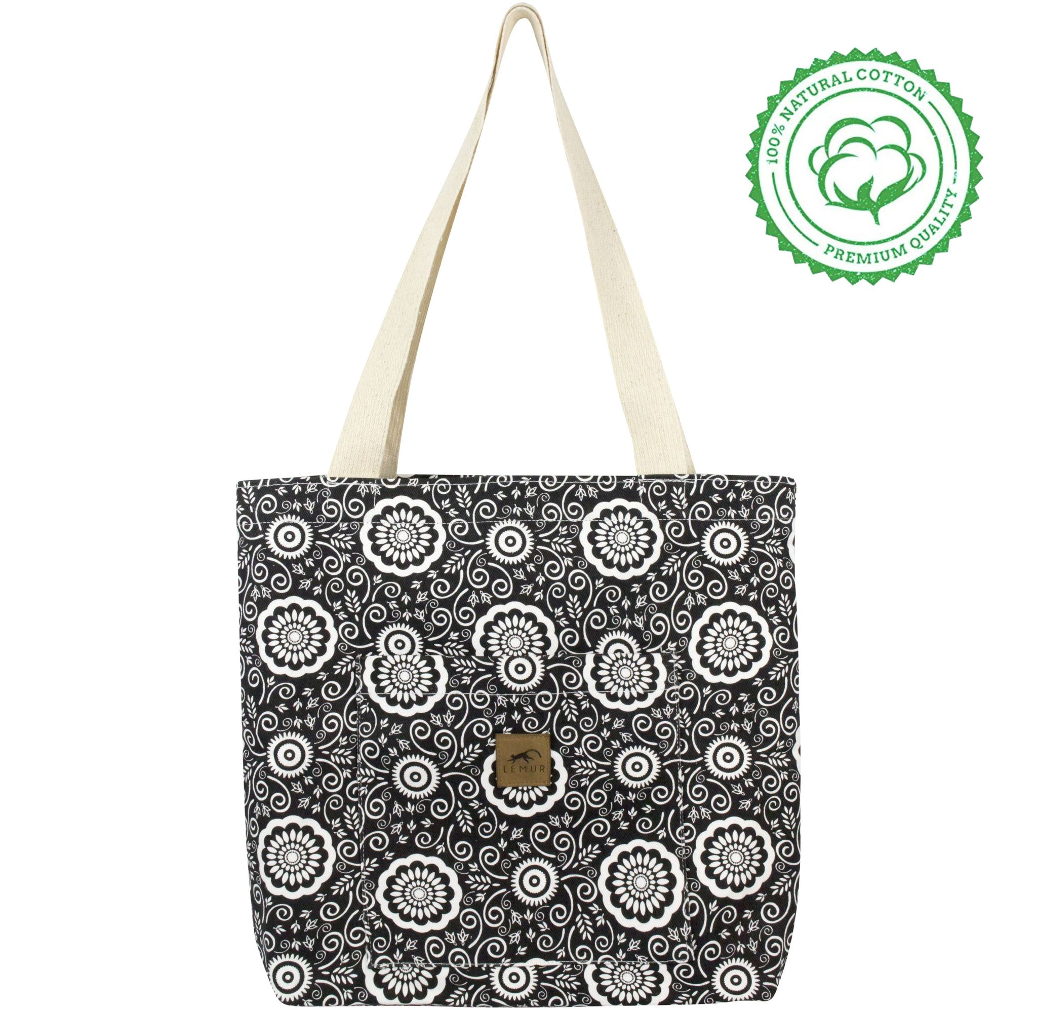 Floral Shopping Tote Bag