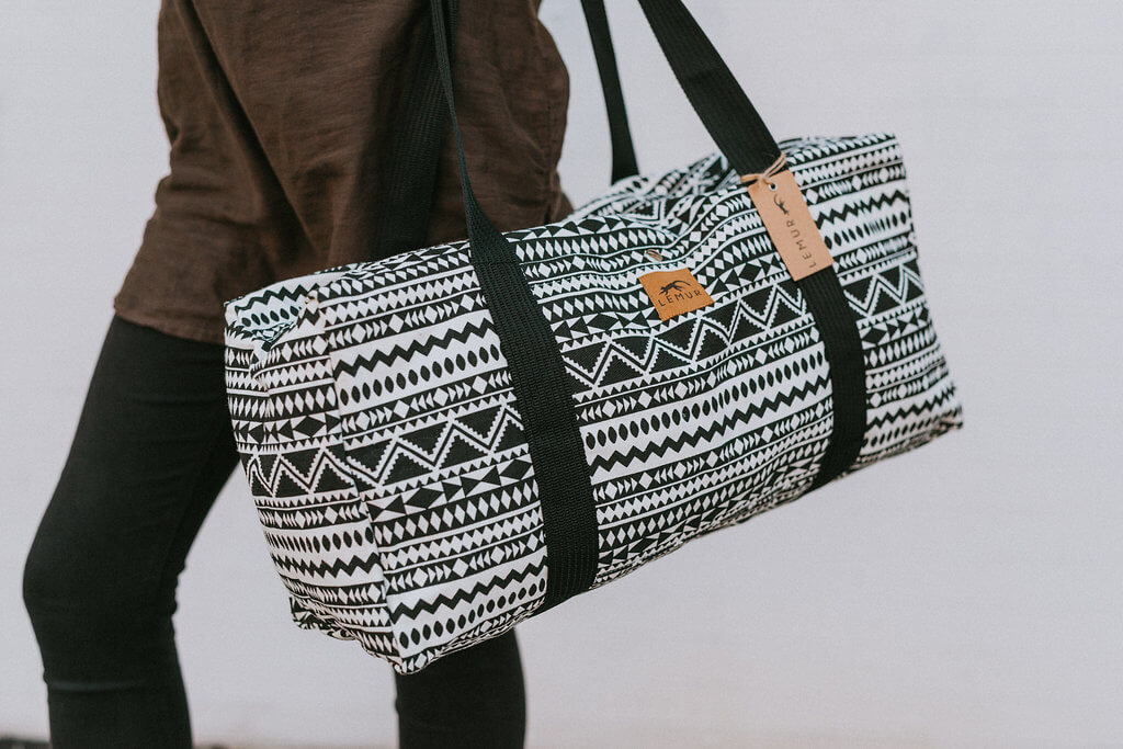 Aztec Tribal Canvas Duffle Bag