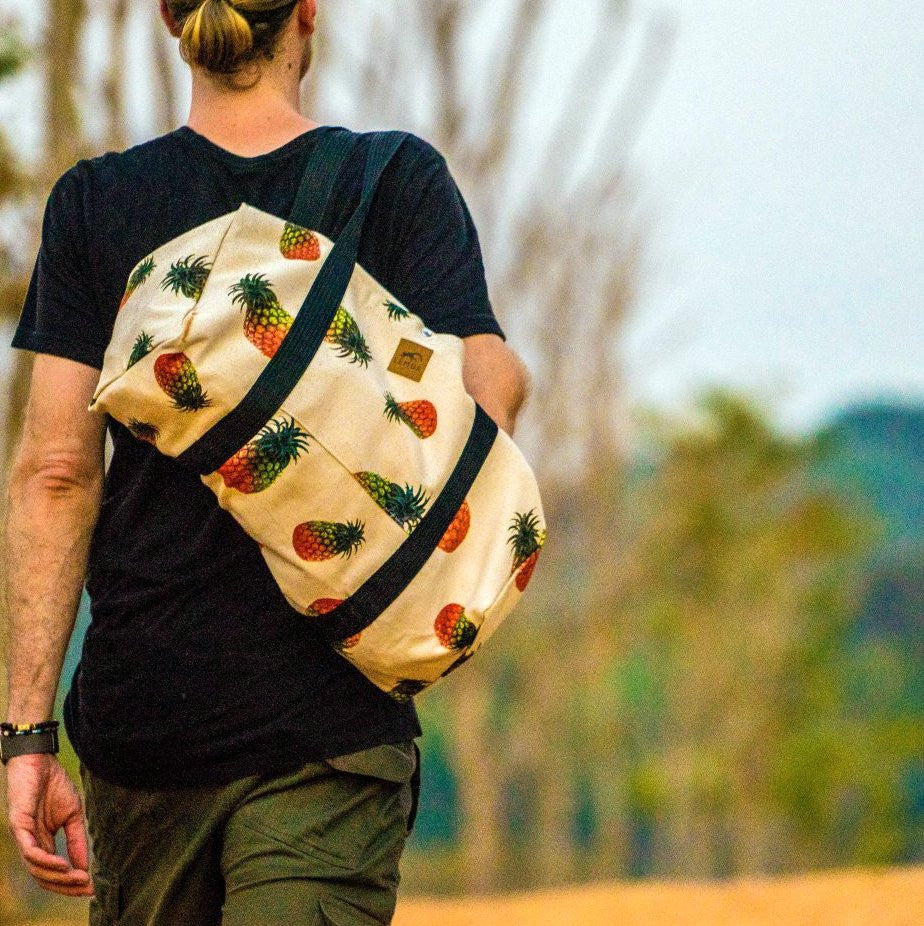 Pineapple Canvas Duffle Bag