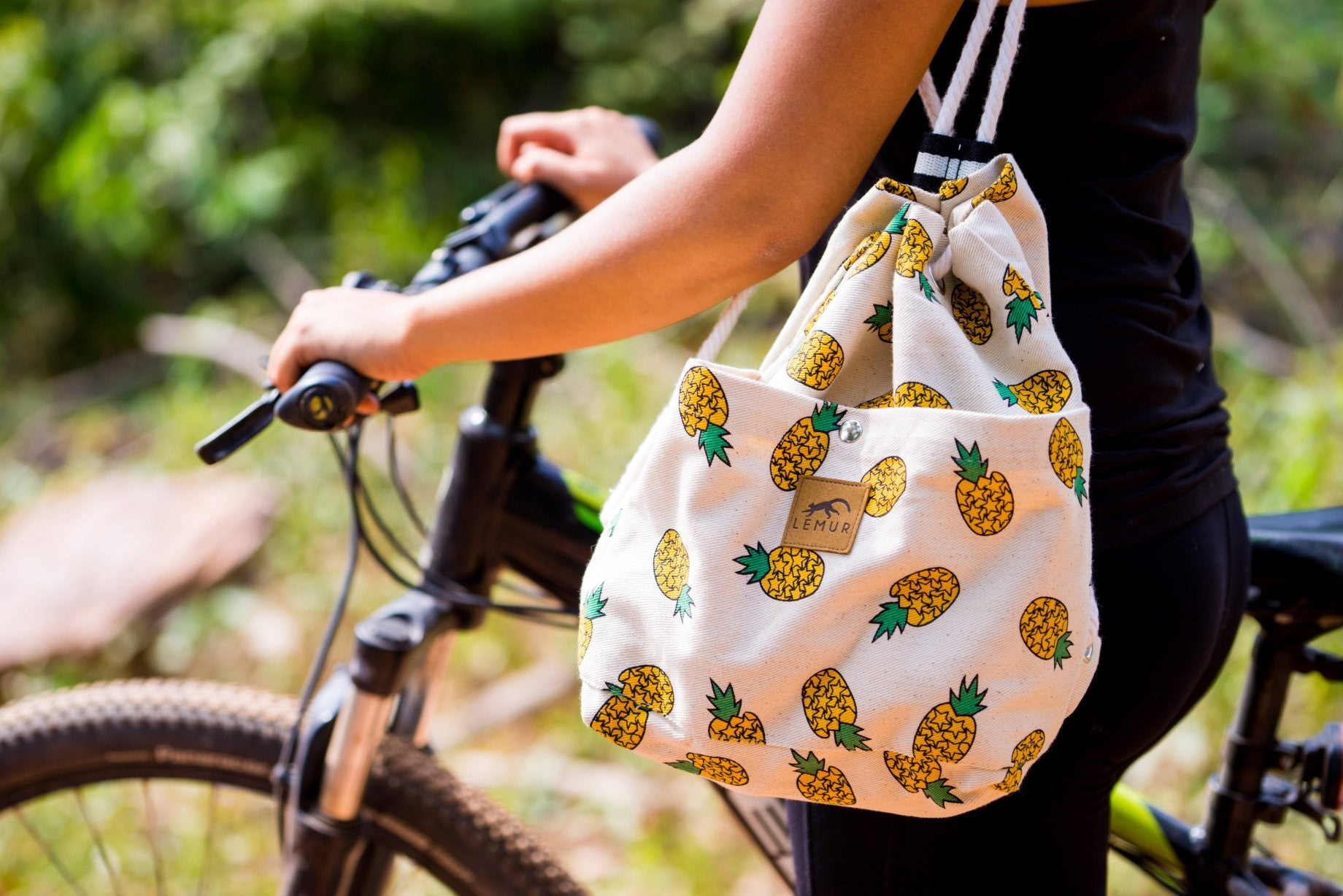 Pineapples Canvas Drawstring Day Bag