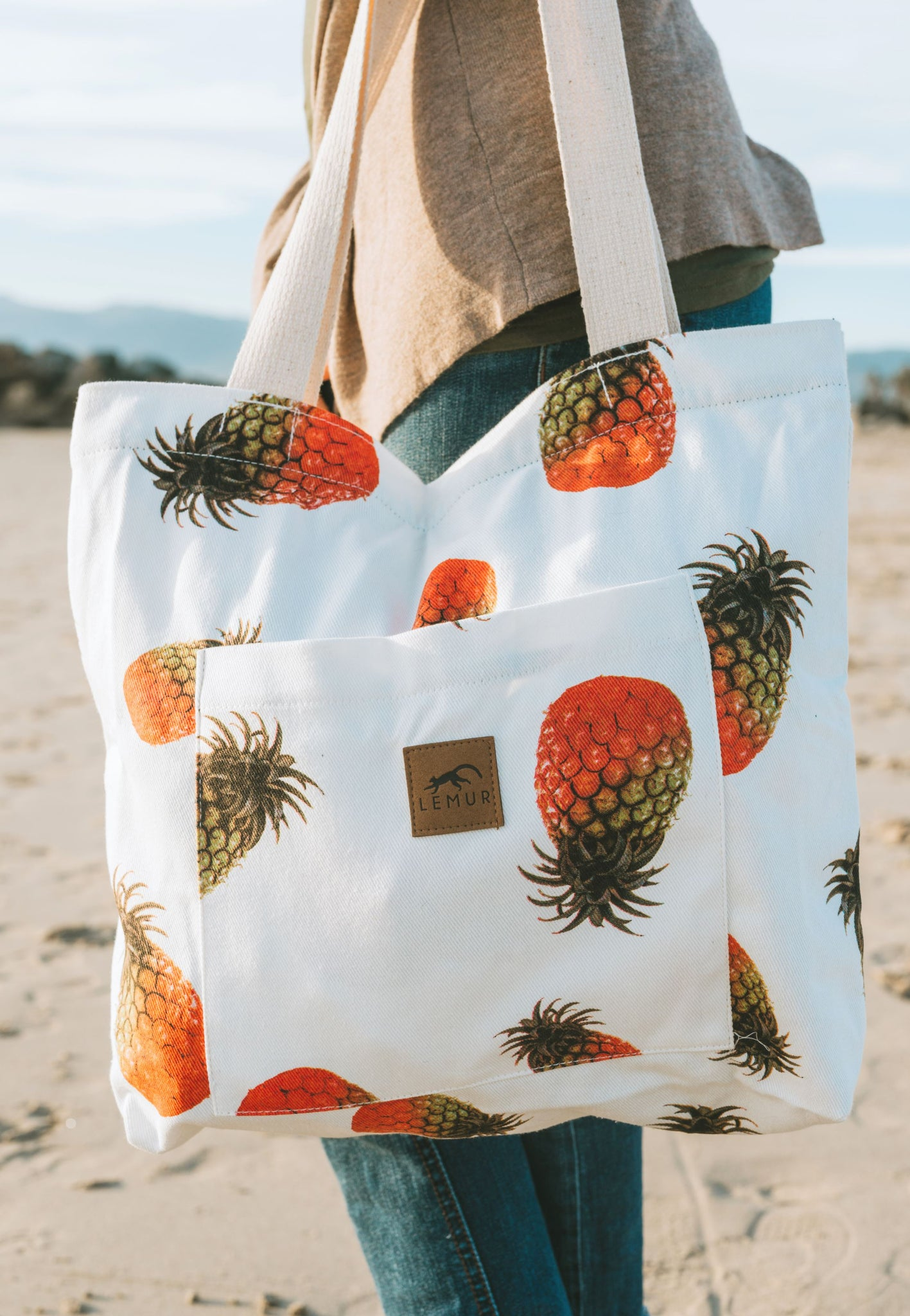 Pineapples Shopping Tote Bag