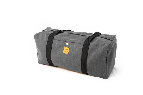 Canvas Duffle Sports Bag - Stone Gray