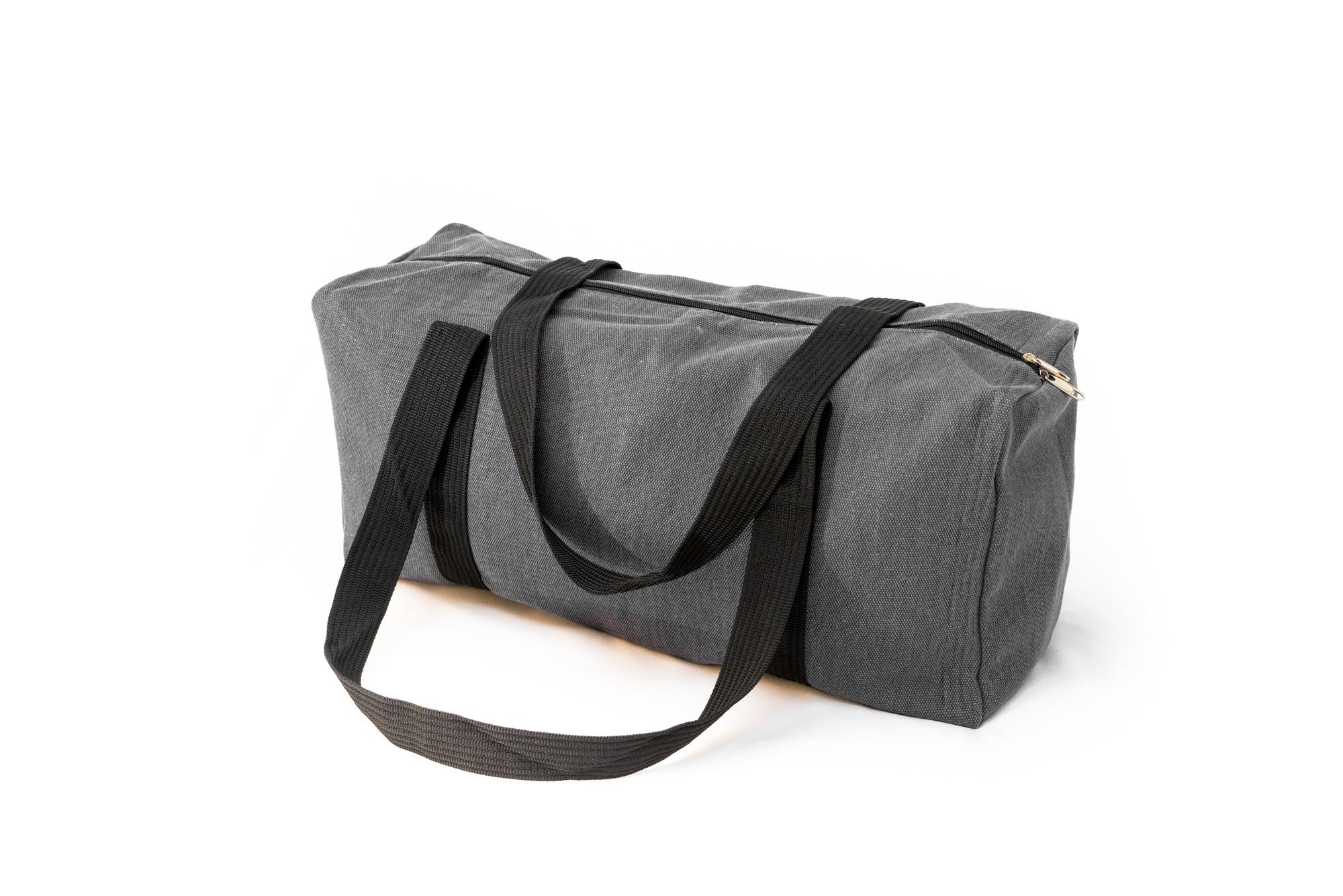 Stone Gray Canvas Duffle Bag
