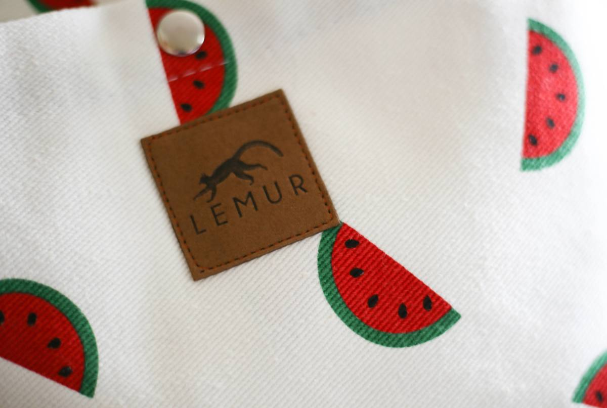 Watermelon Canvas Drawstring Day Bag