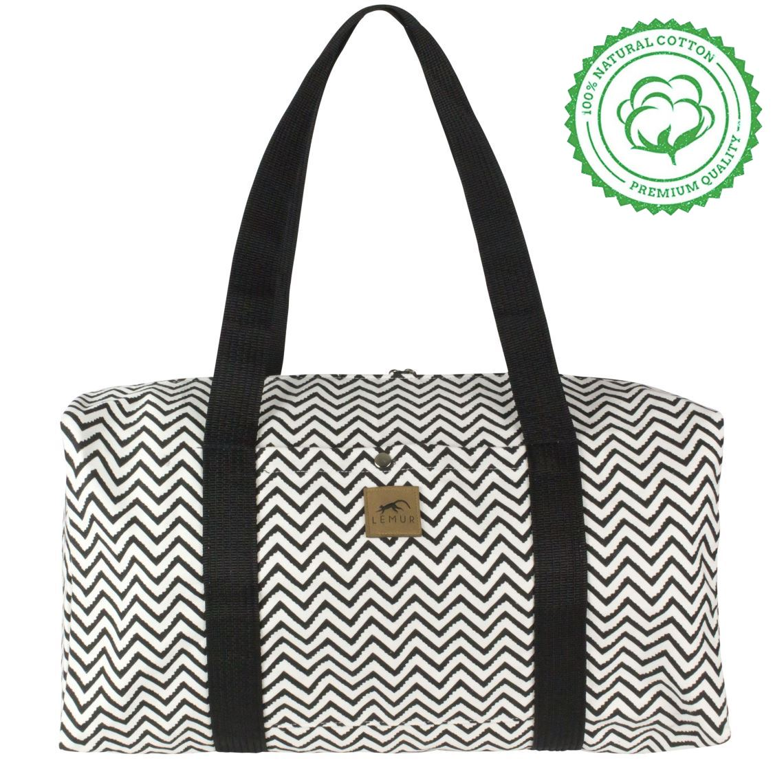 Zig Zag Canvas Duffle Bag