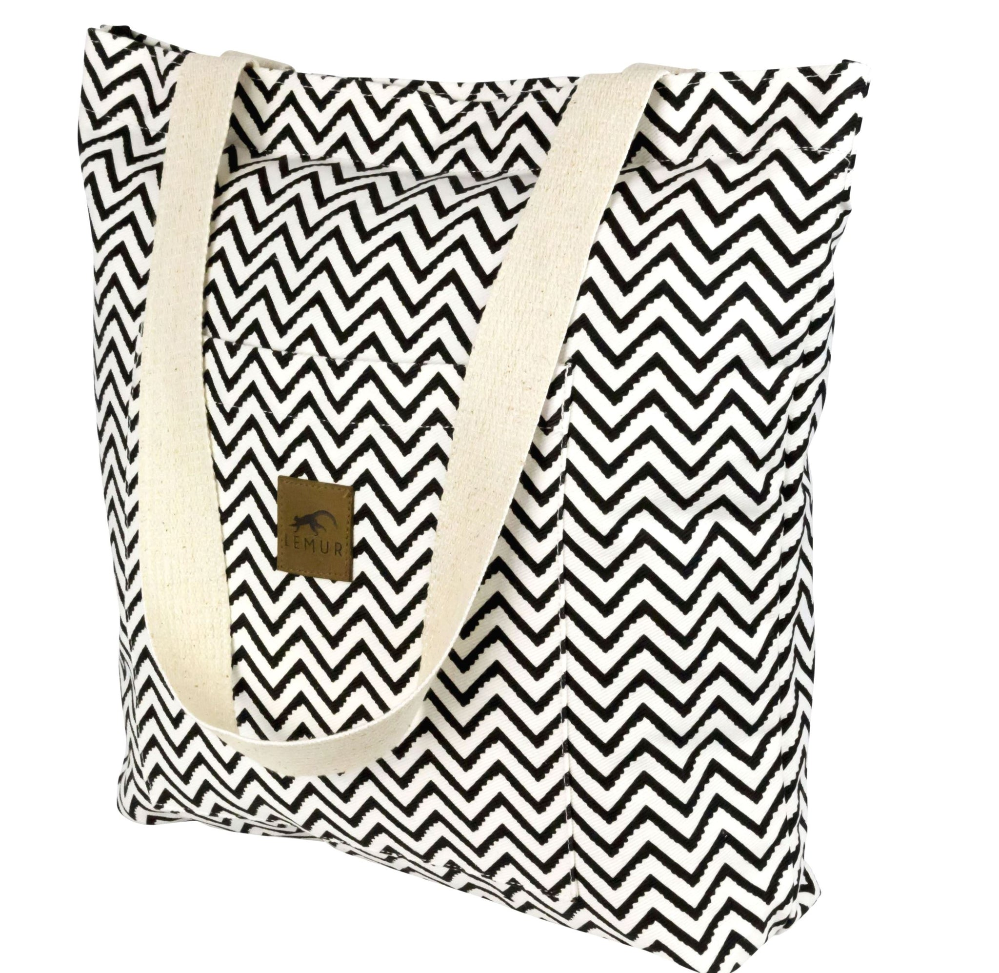 Zig Zag Shopping Tote Bag