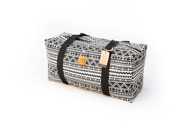 Canvas Duffel Bag - Canvas Duffel Bag - Gym Or Sports Bag, Carry-On Travel Luggage By Lemur Bags (Aztec Tribal)