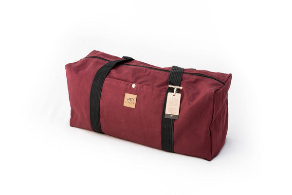 Canvas Duffel Bag - Canvas Duffel Bag - Gym Or Sports Bag, Carry-On Travel Luggage By Lemur Bags (Burgundy)