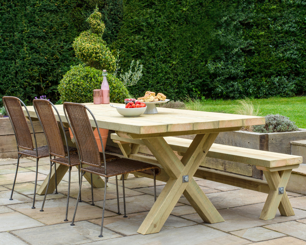 Outdoor Cross Beam Dining Table