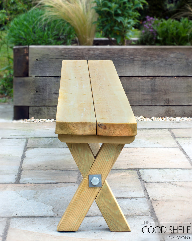 Outdoor Cross Beam Bench