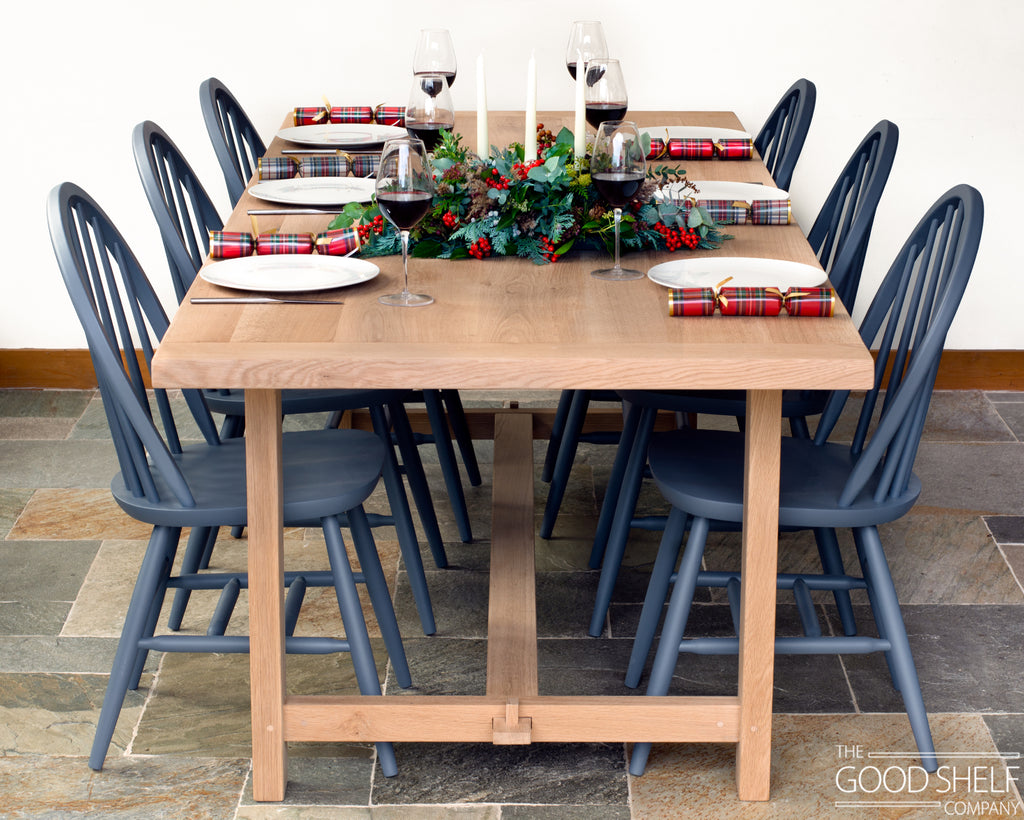 The Rotherfield H Table in Oak at Christmas