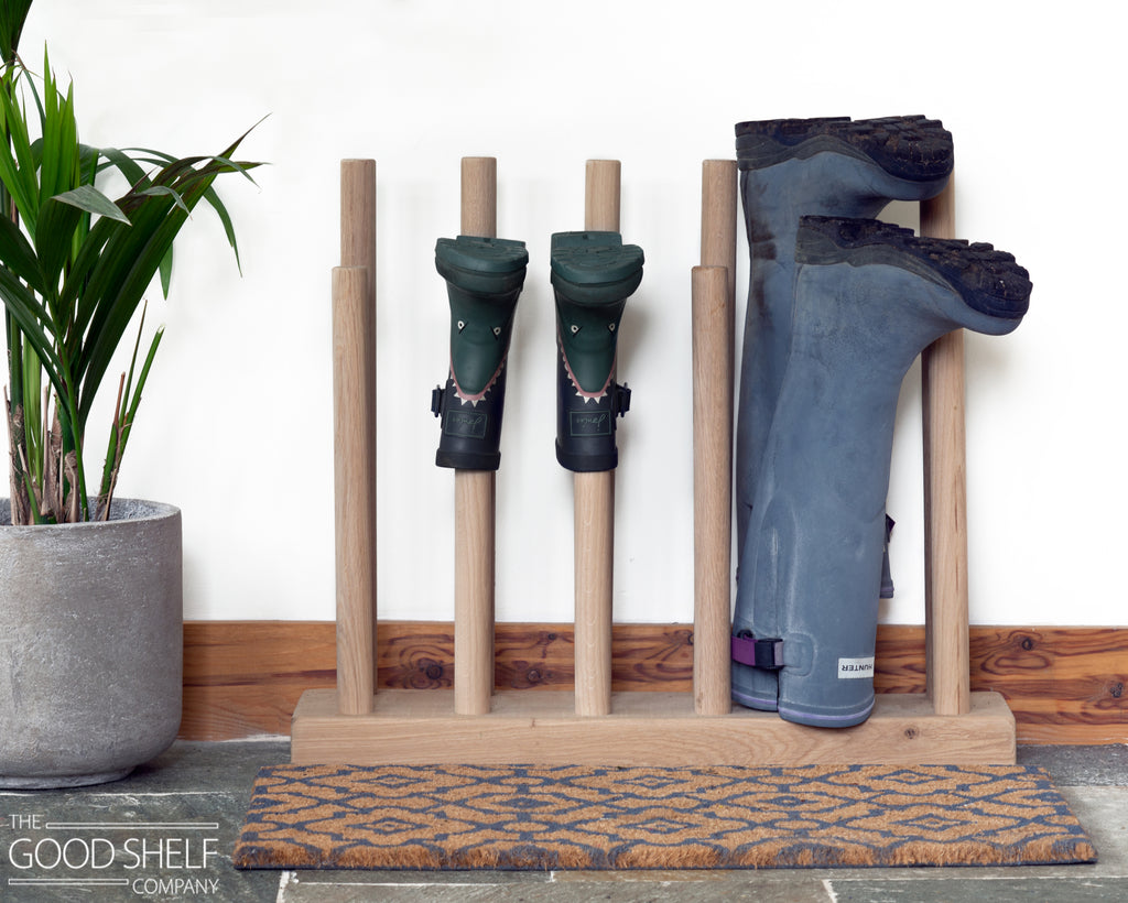 Welly Boot Rack in Oak