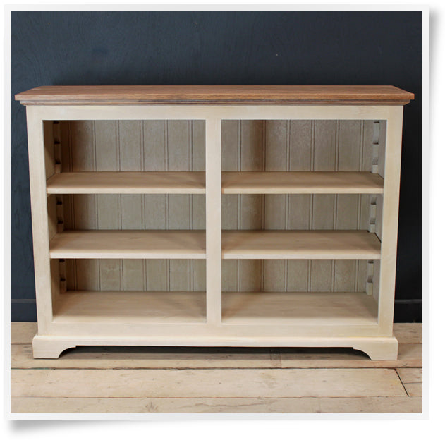 Elliot Low Bookcase 4' wide