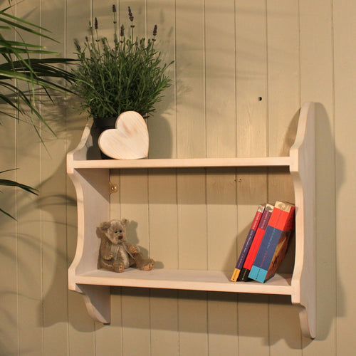 2 Tier Shabby Chic Deep Shelf - 9