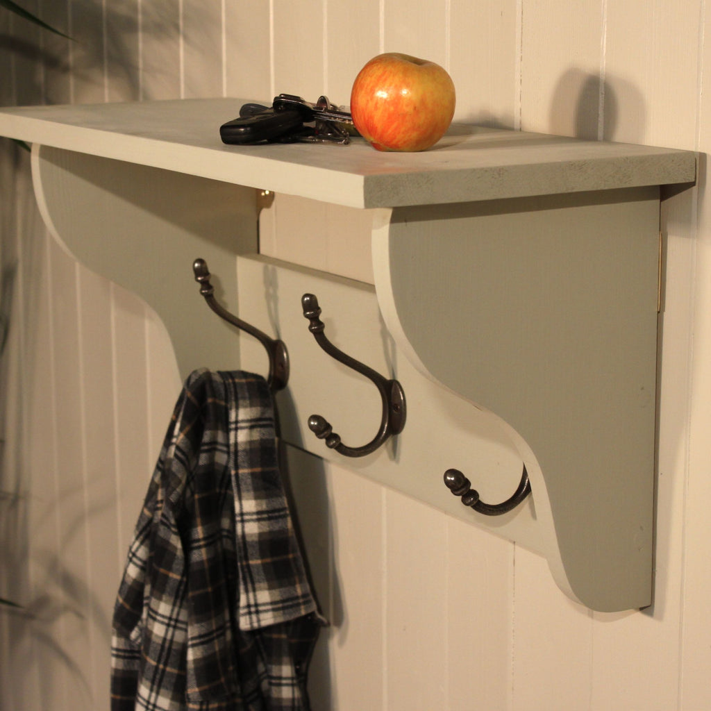 Deep Shelf Coat Rack