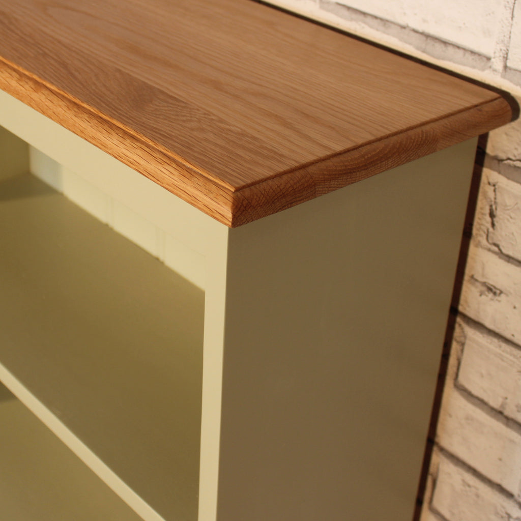 "The Pindars Bookcase - 9"" deep with solid Oak top"