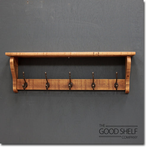 The Salvaged Hat & Coat Rack with Shelf