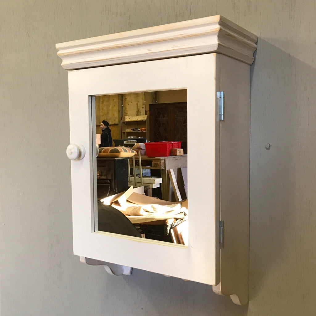 Small Mirrored Bathroom Wall Cabinet