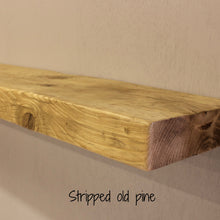 Reclaimed Timber Beam Floating Shelf - 6cm Thick