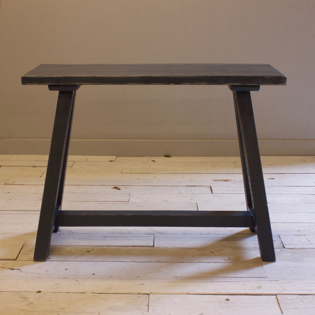 Console Trestle Table in Railings