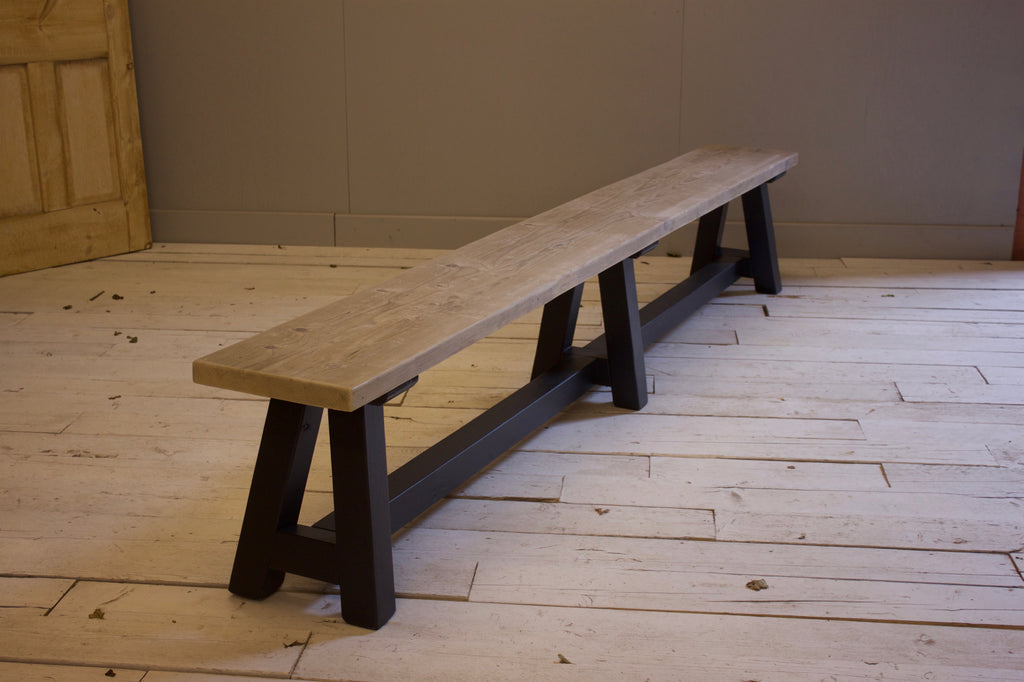 Reclaimed Work Horse Trestle Dining Table